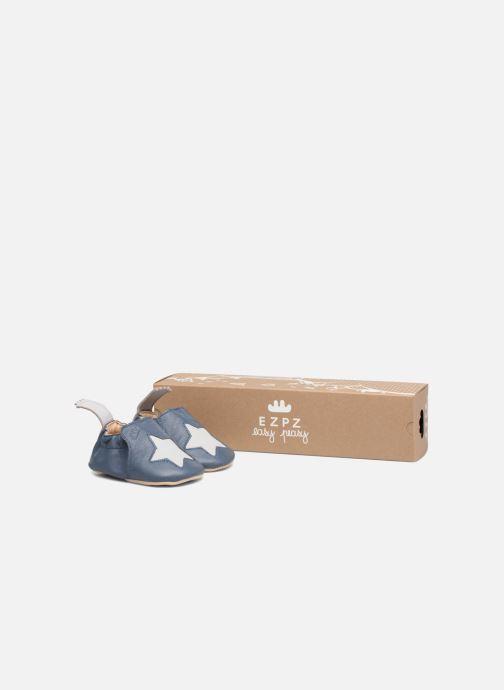 Chaussons Easy Peasy Blumoo Etoile Bleu vue détail/paire