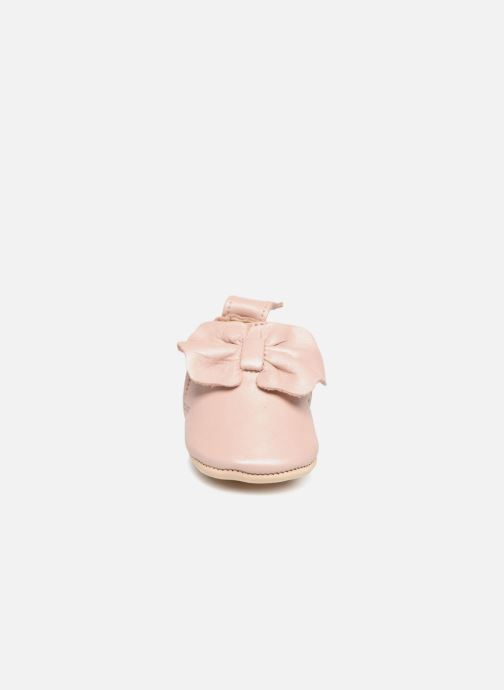 Chaussons Easy Peasy Blumoo Nœud Rose vue portées chaussures