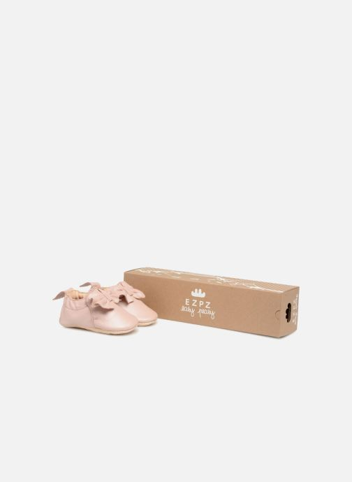 Chaussons Easy Peasy Blumoo Nœud Rose vue détail/paire