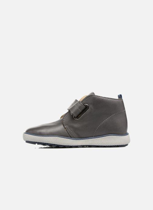 Chaussures à scratch Naturino Naturino 5210 VL Gris vue face