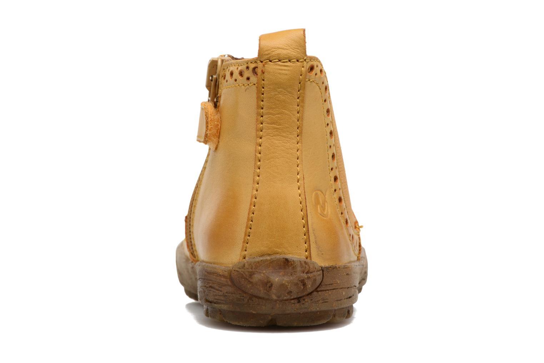 Boots en enkellaarsjes Naturino Storm Geel rechts