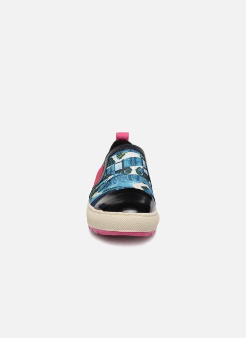 Baskets Geox D Breeda A D642QA Bleu vue portées chaussures