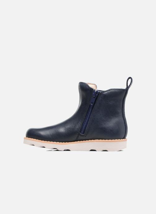 Bottines et boots Clarks Crown Art Inf Bleu vue face