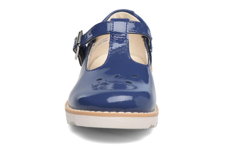 Ballerines Clarks Crown Wish Inf Bleu vue portées chaussures