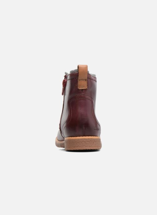 Ankle boots Clarks Tildy Moe Burgundy view from the right