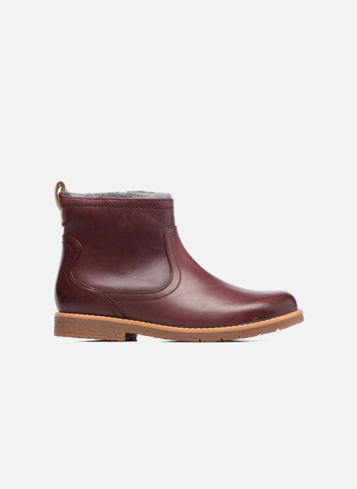 Ankle boots Clarks Tildy Moe Burgundy back view
