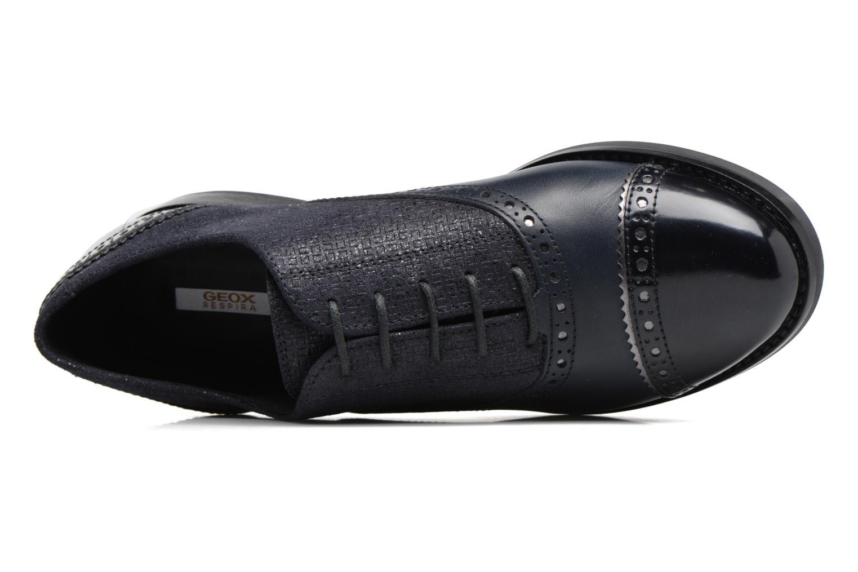 Chaussures à lacets Geox D Promethea A D54R3A Bleu vue gauche