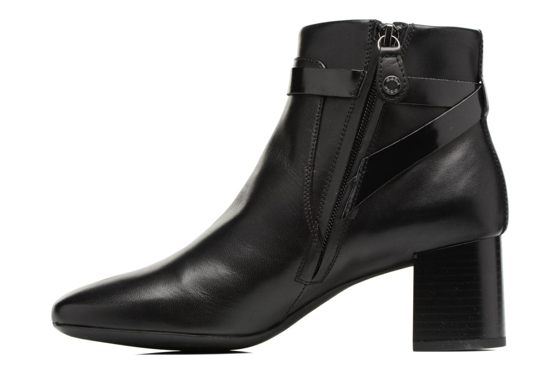 Bottines et boots Geox D Audalies M.B D743YB Noir vue face