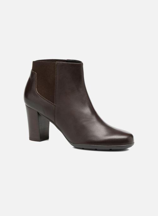 Bottines et boots Geox D Annya B D745FB Marron vue détail/paire