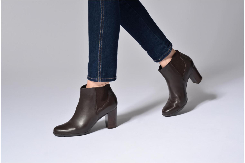 Bottines et boots Geox D Annya B D745FB Noir vue bas / vue portée sac
