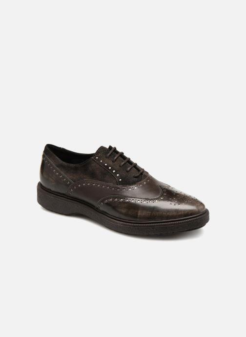 Zapatos con cordones Geox D Prestyn B D745WB Marrón vista de detalle / par