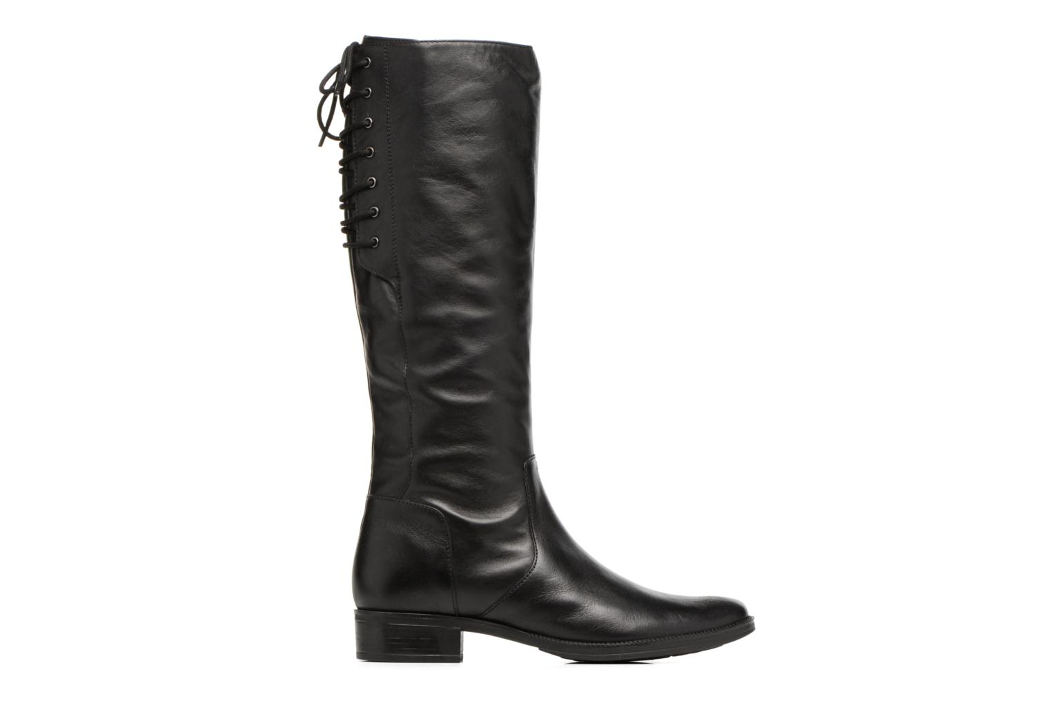 Boots & wellies Geox D Mendi St B D7490B Black back view