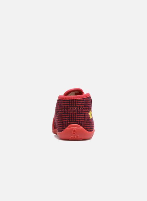 Chaussons GBB Paco Rouge vue droite