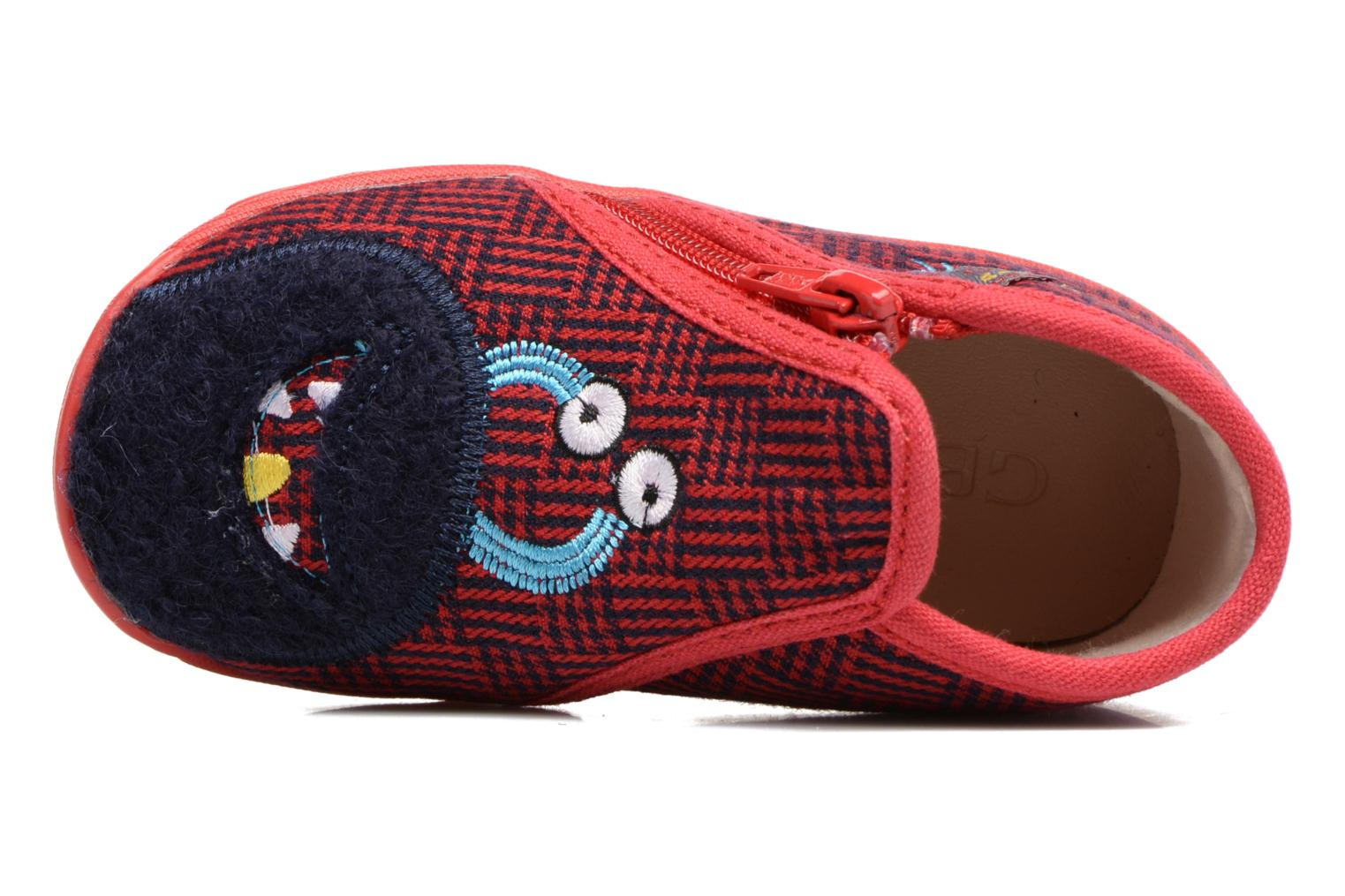 Chaussons GBB Paco Rouge vue gauche