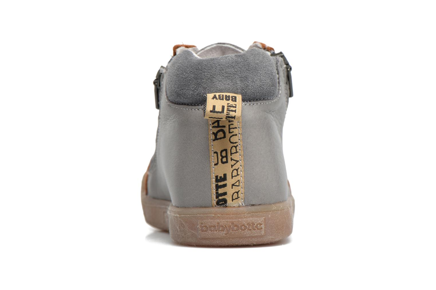 Trainers Babybotte Afolan Grey view from the right