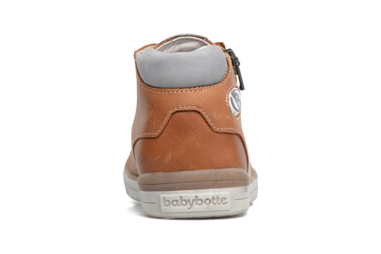 Baskets Babybotte B3 Lacet Marron vue droite