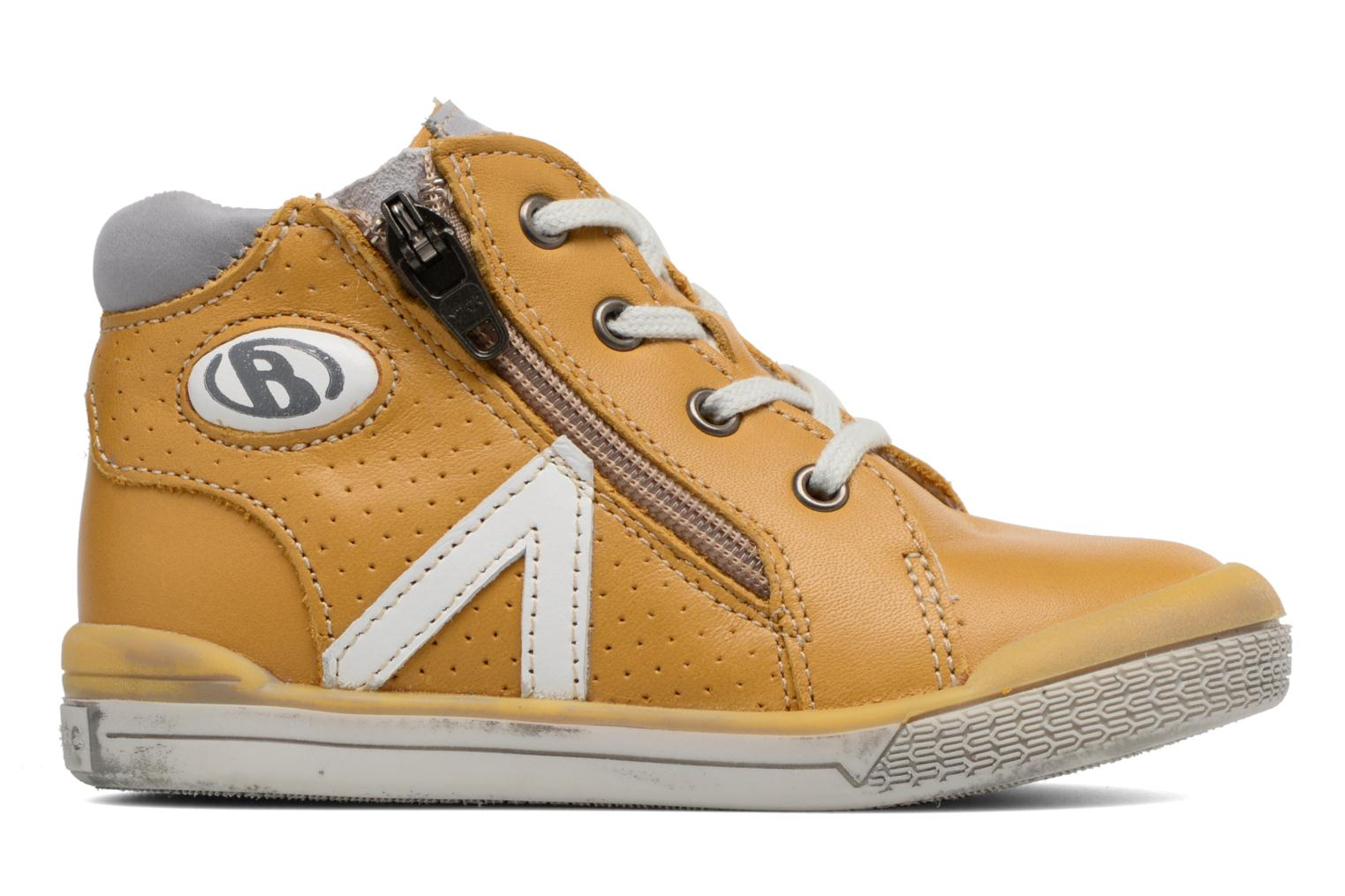 Trainers Babybotte B3 Lacet Yellow back view