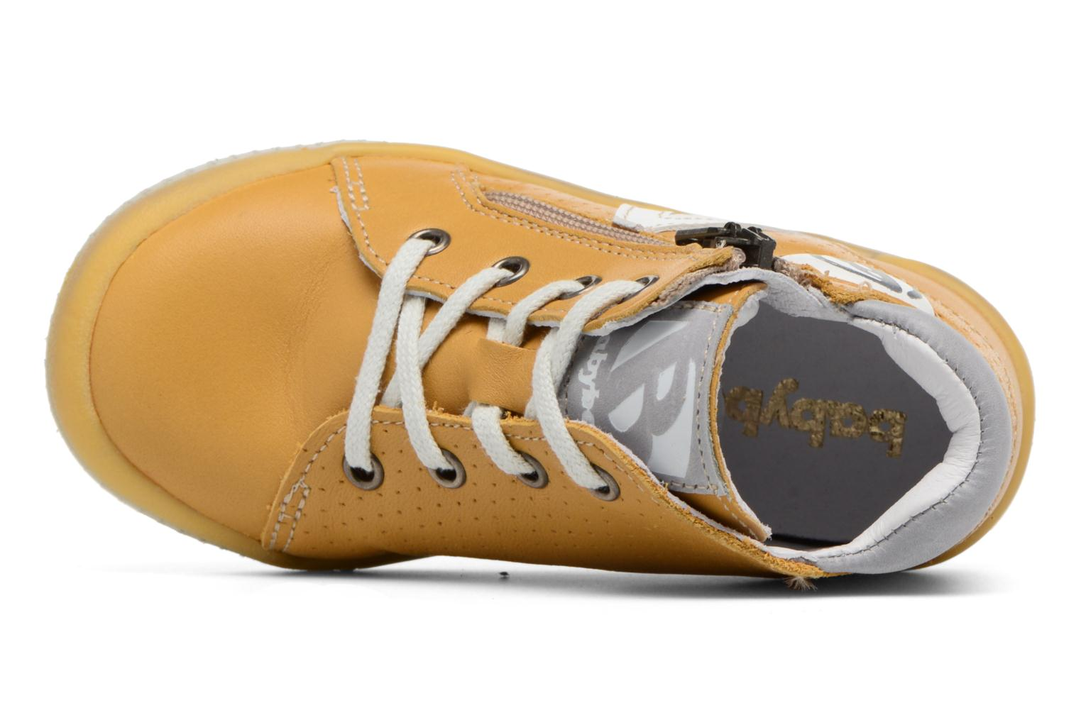 Trainers Babybotte B3 Lacet Yellow view from the left