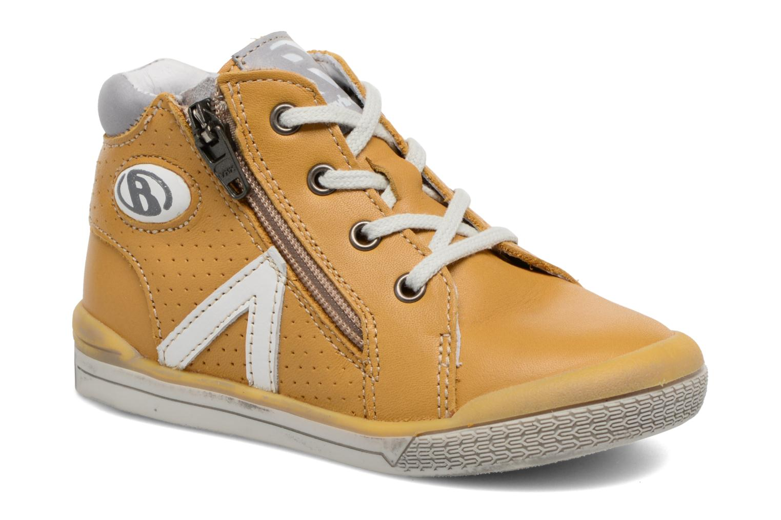 Trainers Babybotte B3 Lacet Yellow detailed view/ Pair view