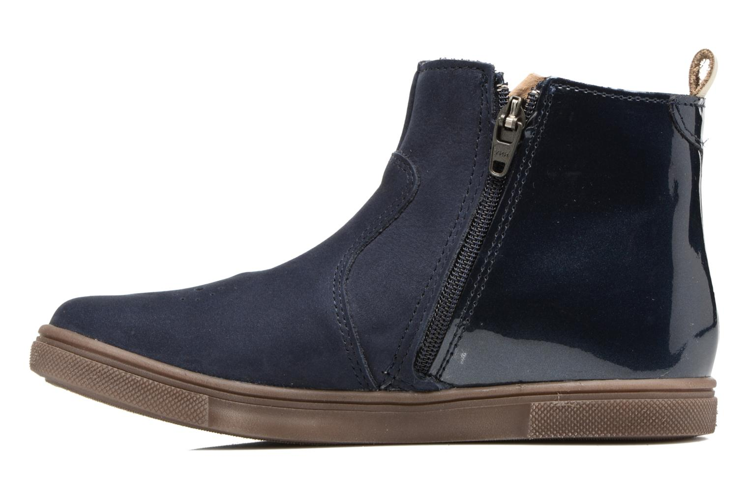Ankle boots Babybotte Karnaby Blue front view