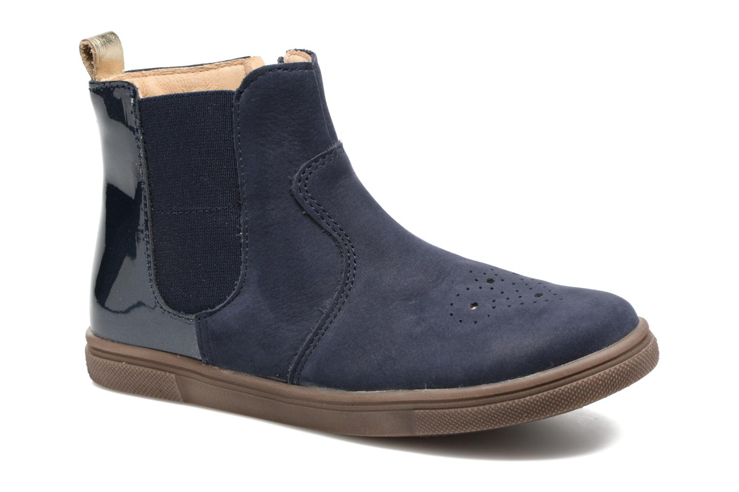 Ankle boots Babybotte Karnaby Blue detailed view/ Pair view