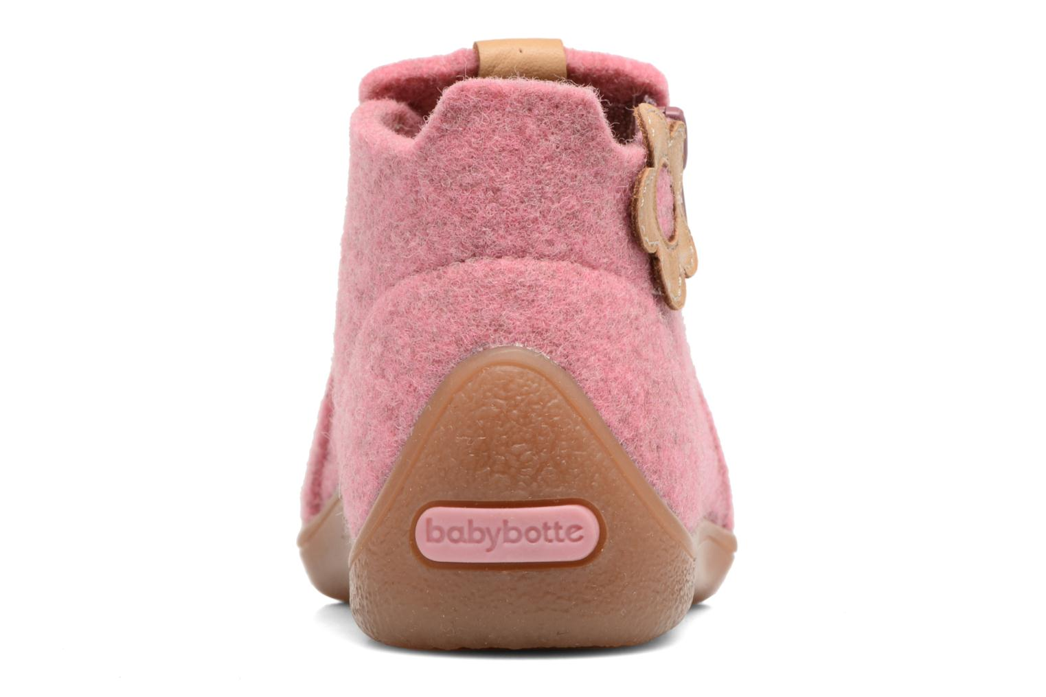 Slippers Babybotte Marguerite Pink view from the right