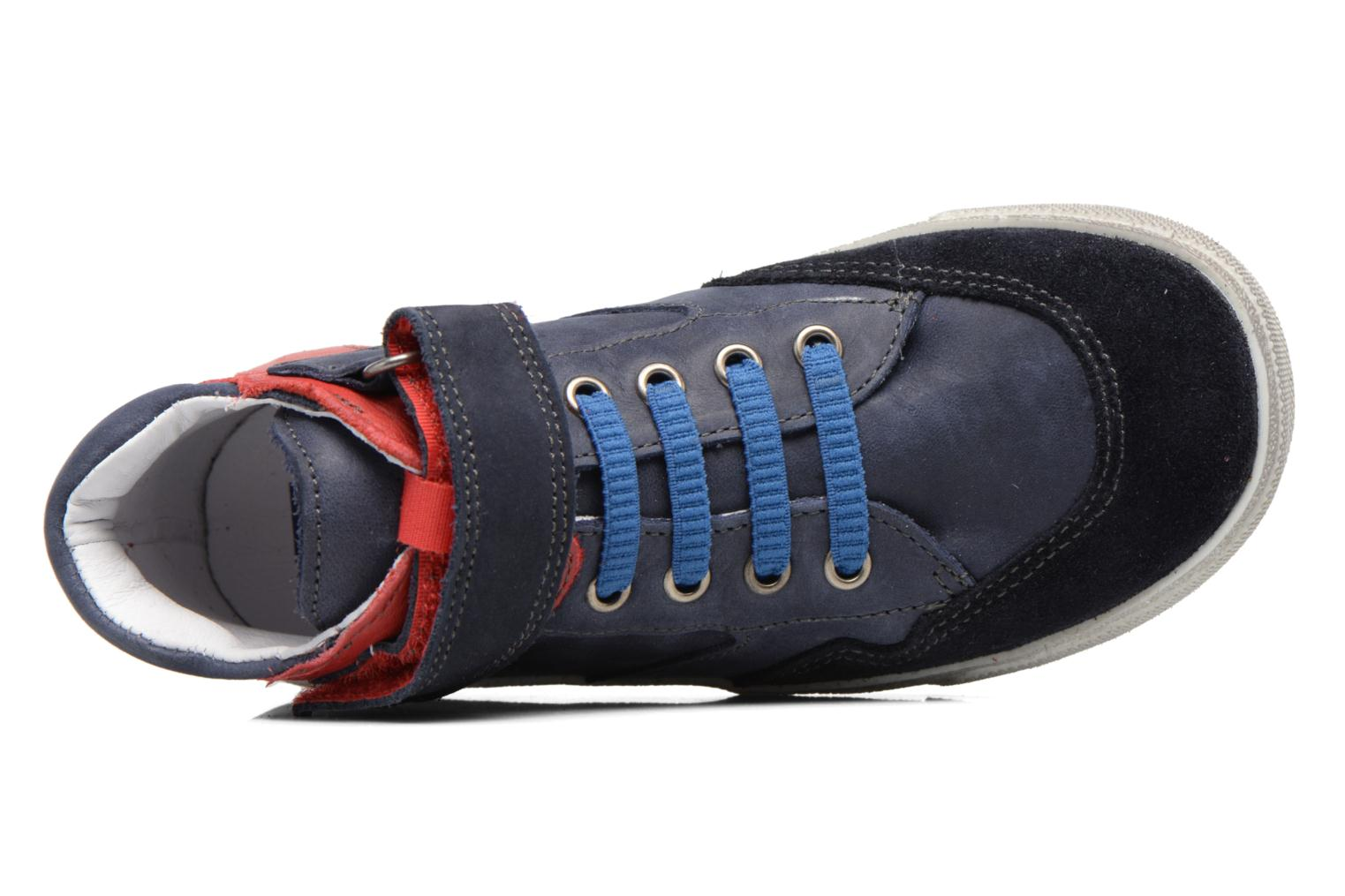 Trainers Babybotte Karamel Blue view from the left