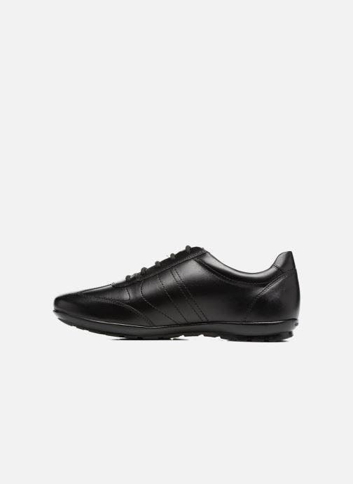 Sneaker Geox U Symbol B U74A5B schwarz ansicht von vorne