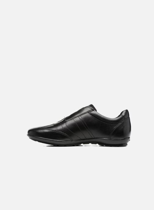 Sneaker Geox U Symbol C U74A5C schwarz ansicht von vorne