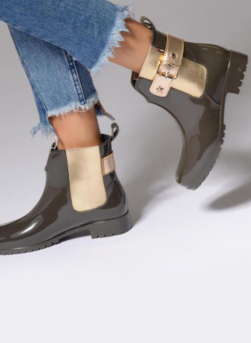 Bottines et boots Tommy Hilfiger Oxley Vert vue bas / vue portée sac