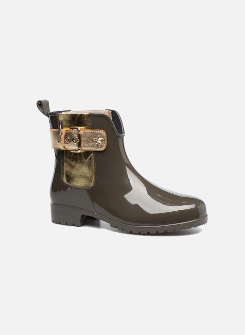 Bottines et boots Tommy Hilfiger Oxley Vert vue détail/paire