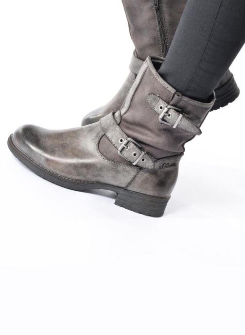 Bottines et boots S.Oliver Cecila Gris vue bas / vue portée sac
