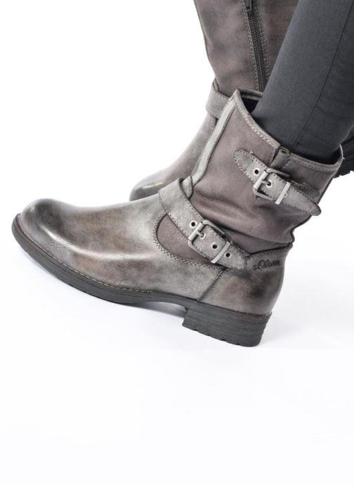 Bottines et boots S.Oliver Cecila Marron vue bas / vue portée sac