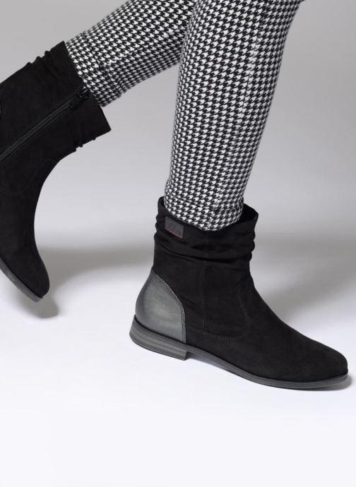 Bottines et boots S.Oliver Nola Noir vue bas / vue portée sac