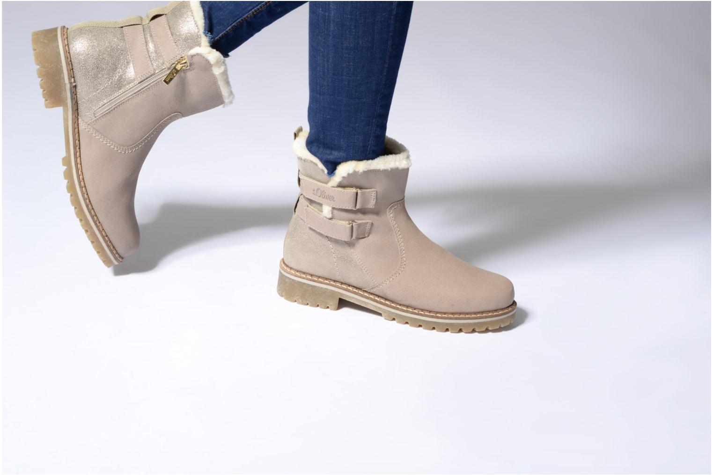 Bottines et boots S.Oliver Nilma Beige vue bas / vue portée sac