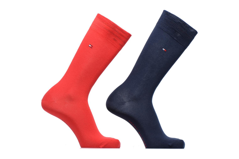 Sokken en panty's Tommy Hilfiger Chaussettes CLASSIC LOT DE 2 Rood detail