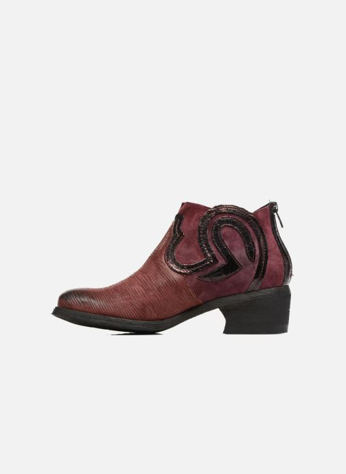 Ankle boots Khrio Feabese Burgundy front view