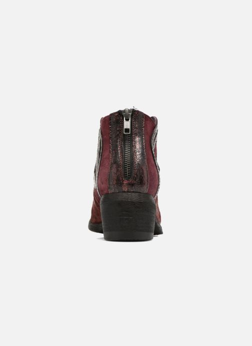 Ankle boots Khrio Feabese Burgundy view from the right
