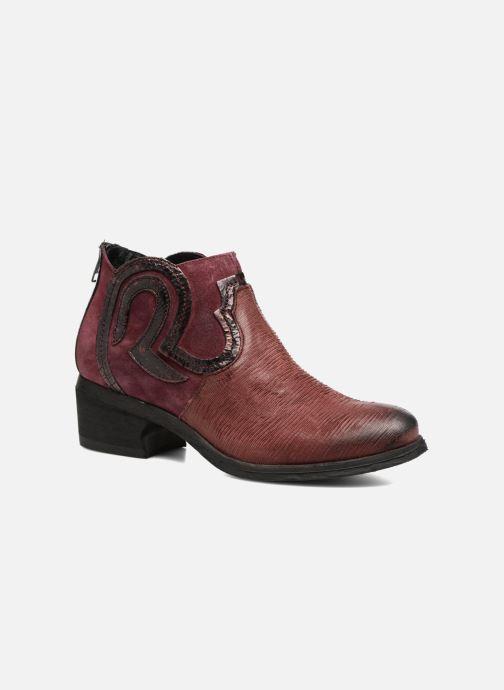 Bottines et boots Khrio Feabese Bordeaux vue détail/paire