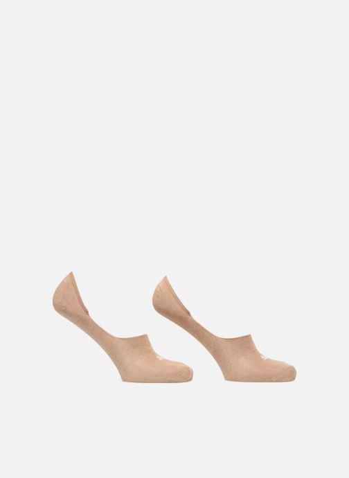 Chaussettes et collants Puma Socks FOOTIES LOT DE 2 Beige vue détail/paire