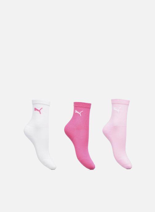 Strumpor och strumpbyxor Puma Socks SPORT CREW KIDS LOT DE 3 Rosa detaljerad bild på paret