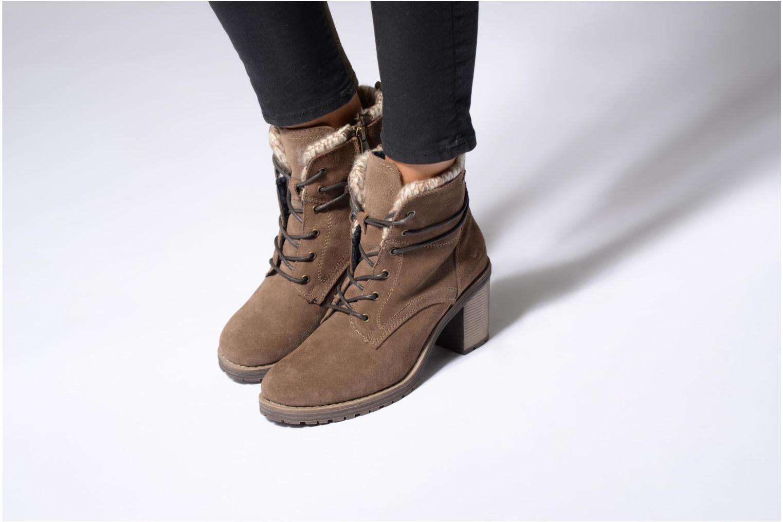 Bottines et boots Tom Tailor Alison Marron vue bas / vue portée sac