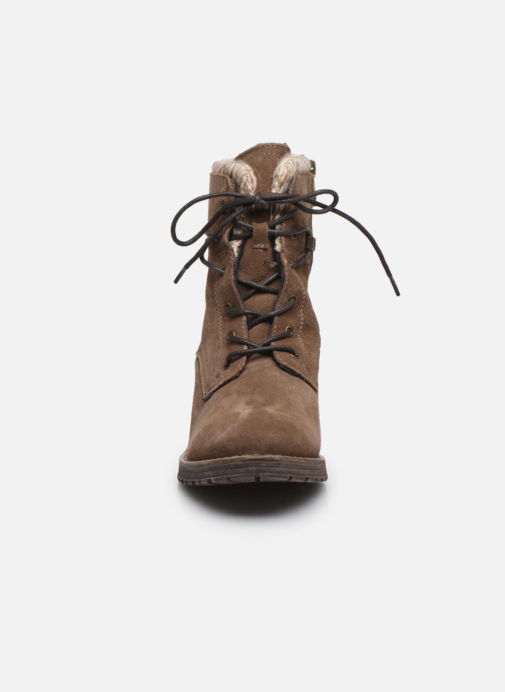 Bottines et boots Tom Tailor Alison Marron vue portées chaussures