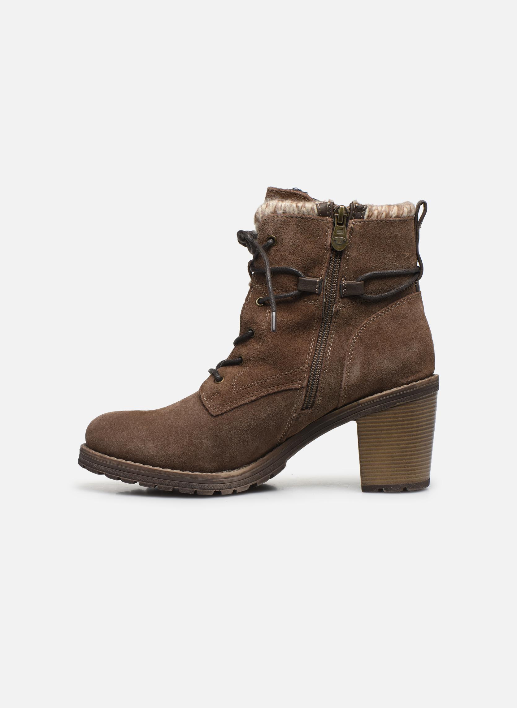 Bottines et boots Tom Tailor Alison Marron vue face