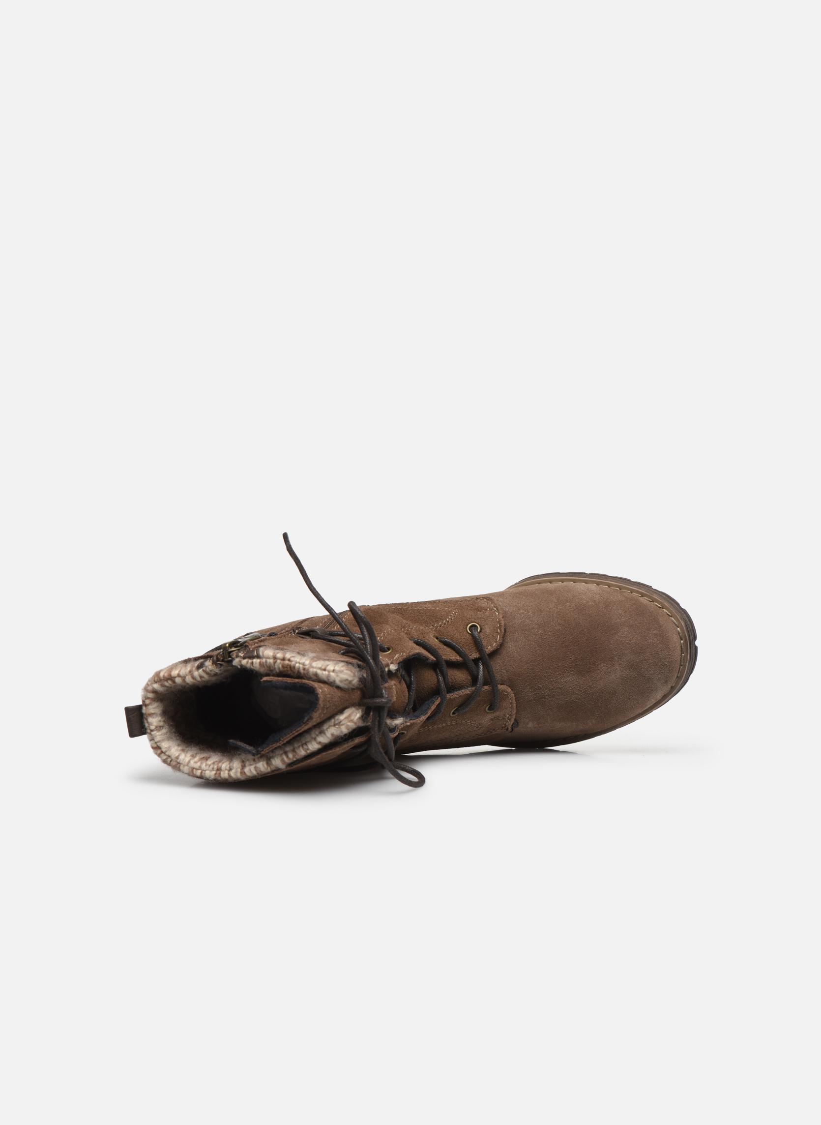 Bottines et boots Tom Tailor Alison Marron vue gauche