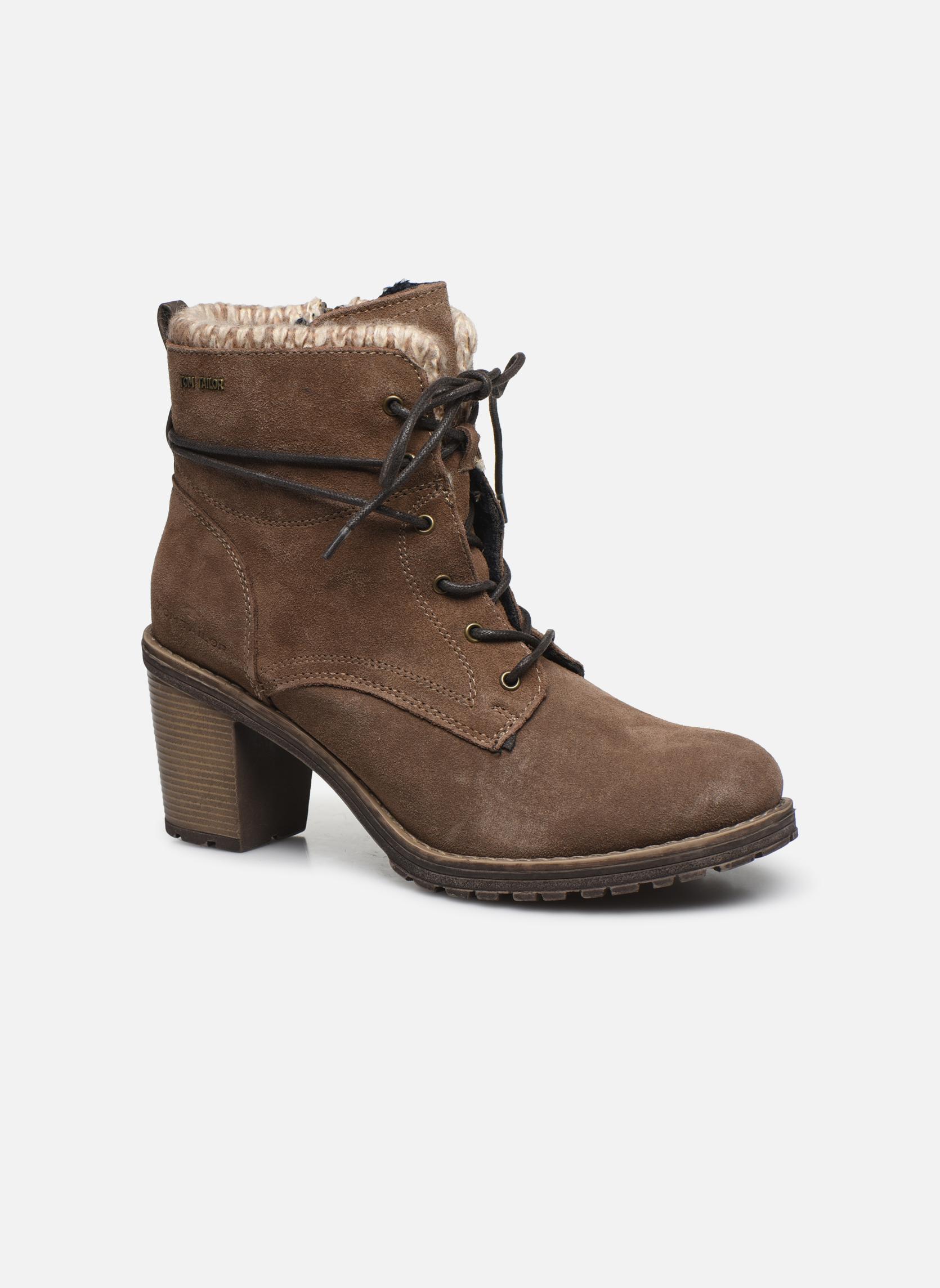 Bottines et boots Tom Tailor Alison Marron vue détail/paire
