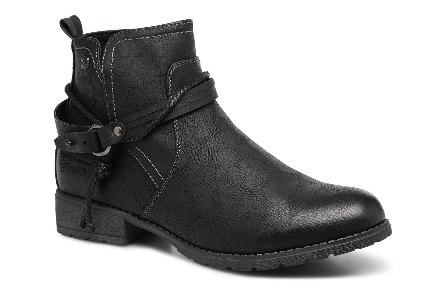 Ankle boots Tom Tailor Sabrina Black detailed view/ Pair view