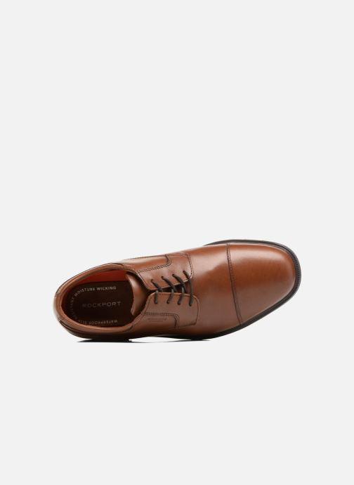 Chaussures à lacets Rockport Esntial Dtl II Cap Toe Marron vue gauche