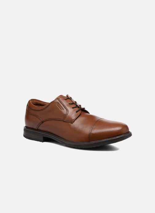 Chaussures à lacets Rockport Esntial Dtl II Cap Toe Marron vue détail/paire