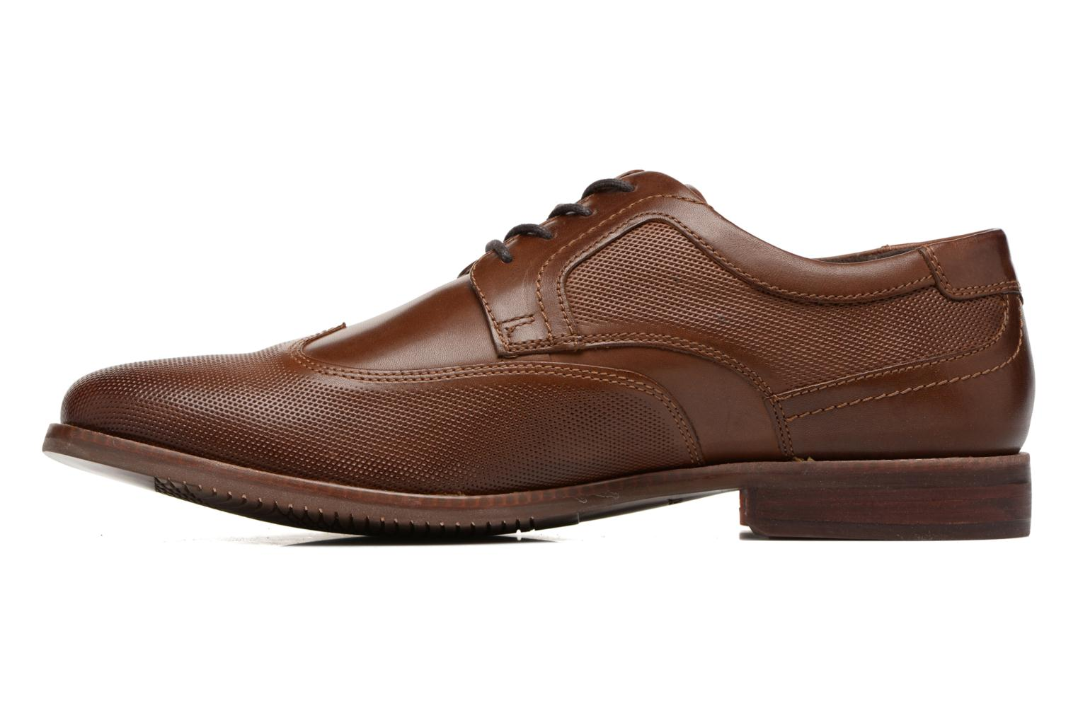 Chaussures à lacets Rockport SP Perf Wingtip Marron vue face